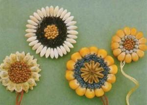 Природный материал поделки из семян