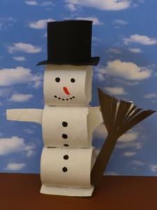 Снеговик из полосок