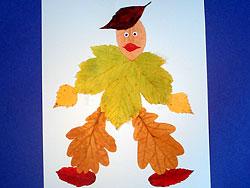 Творчество с ребенком - Поделки из листьев поделки с детьми, творчество с ребенком, аппликации, детский сад...