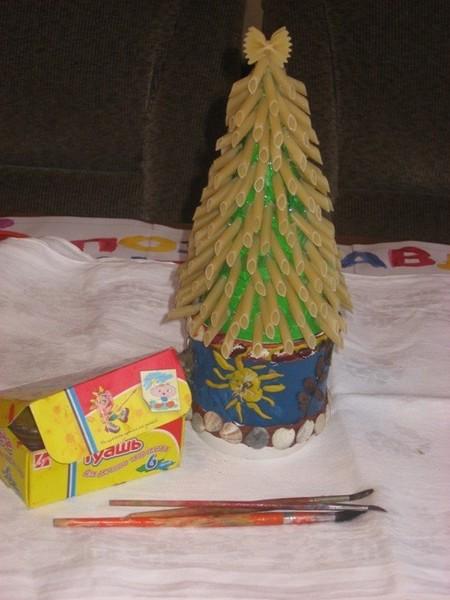 Новогодняя елка своими руками из кофе
