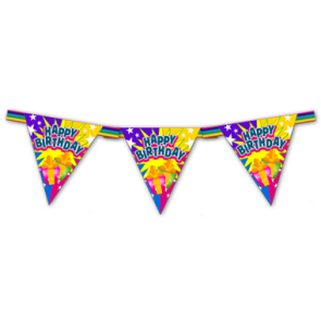 Гирлянда-флажки ко дню рождения