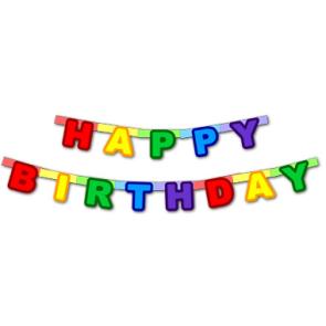Гирлянда-надпись ко дню рождения - Happy Birthday