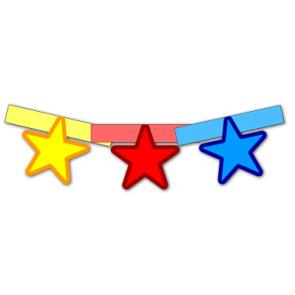 Гирлянда - звёзды