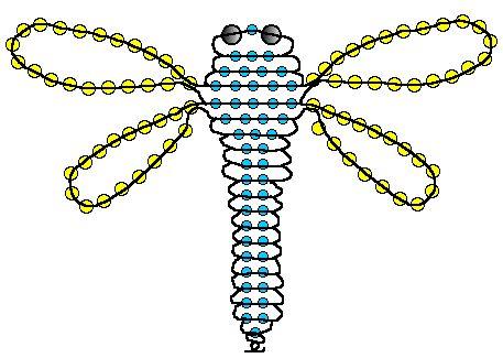 Схема бисероплетения стрекозы