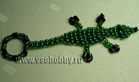 Плетение из бисера для начинающих брелки.