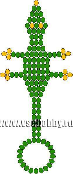 Схема бисероплетения брелка-