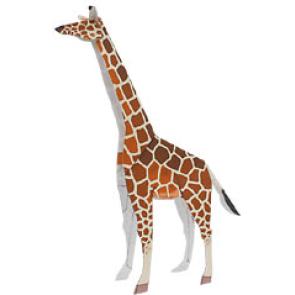 Поделки с жирафами из бумаги 156