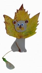 Лвёнок из кленового листа