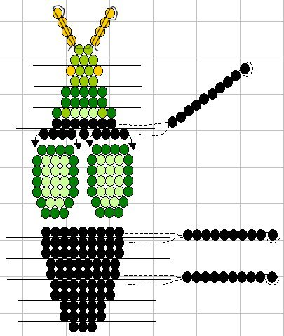 Схемы плетения объёмных фигурок из бисера.