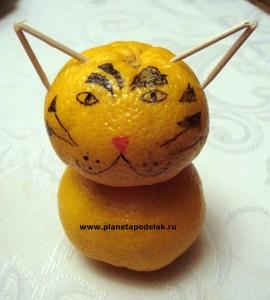 Тигр из мандарина