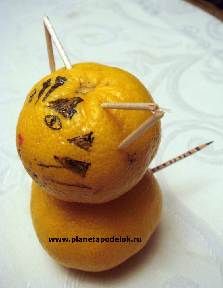 Поделка своими руками мандарин