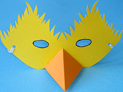 Маска птицы своими руками из бумаги на голову