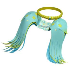 Ангельские крылья и нимб