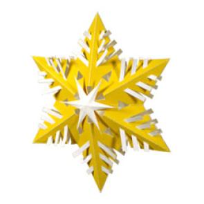 Ёлочное украшение - снежинка
