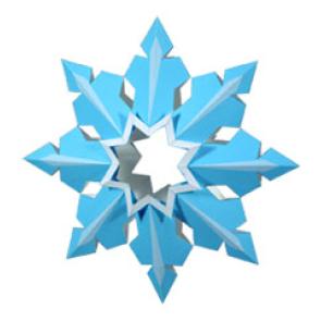 Снежинка для новогодней ёлочки