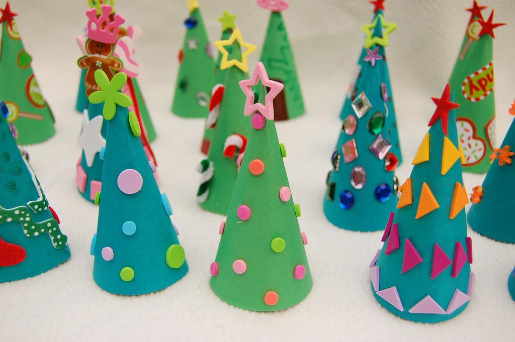 Новогодние поделки на елку  для детского сада