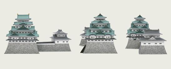 Замок Нагоя - готовая модель