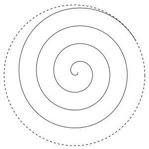 Спираль из бумаги