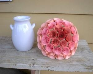Розовые цветки в букете