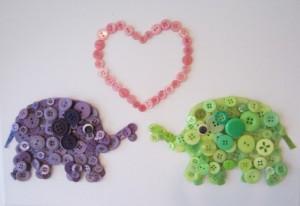 Свидание двух слоников