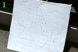 Нанесённый на картон рисунок