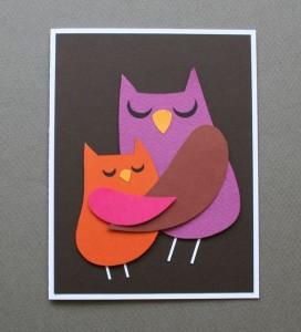 Совушка-мама с птенцом
