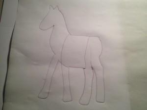 Сделайте шаблон лошади