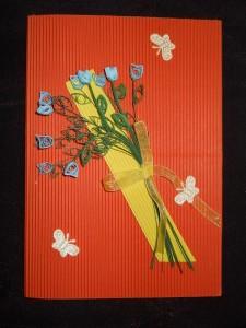 Мастер-класс: открытка с нежным букетом в технике квиллинг