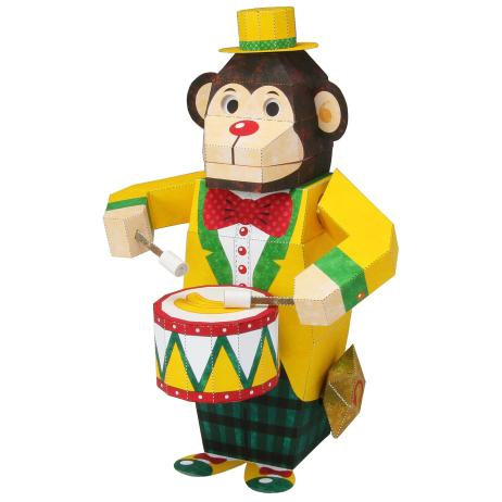Обезьяна-барабанщик