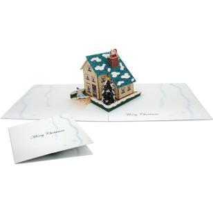 Открытка-раскладушка (новогодний домик)